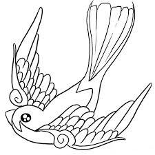 coloriage oiseau de paradis a imprimer gratuit