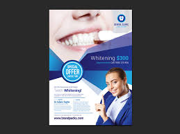 free dental clinic poster template for photoshop u0026 illustrator