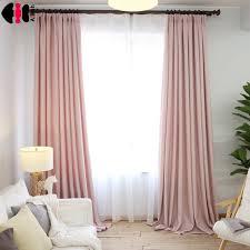 Window Curtain Decor Simple Style Pink Linen Cloth Room Decor Curtains Window Drapes