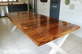how to make a dinner table pecan farmhouse dining table domestic imperfection