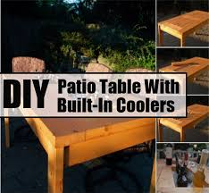 Cooler Patio Table Diy Patio Table With Built In Coolers Diycozyworld Home
