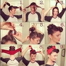 Rockabilly Kurzhaarfrisuren Frauen by Hairstyle Mit Tuch Selbermachen Tücher Frisur Und