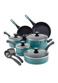 paula deen 12 piece riverbend aluminum nonstick cookware set belk