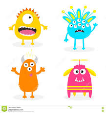 cute halloween background clipart monster set cute cartoon scary character baby collection white
