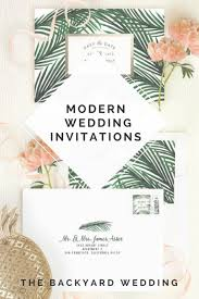 Backyard Wedding Invitations Modern Paper Invitations The Backyard Wedding