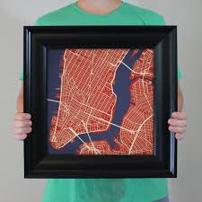 Best City Flags New York City Lower Manhattan Map Art City Prints