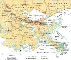 orleans map map of modern mississippi river delta in vicinity of orleans