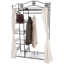 porte manteau armoire genf garde robe portant portemanteau armoire étagère