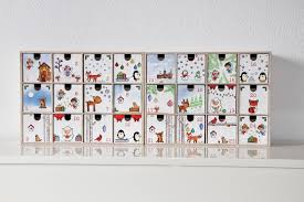 advent calendar with moppe shelf drawers by ikea papierlisi