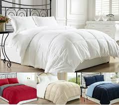 clara clark goose down alternative reversible comforter