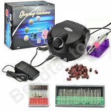 uk plug new pro 30000rpm electric nail drill machine file bits