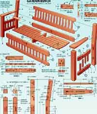 Plans For Building A Wood Bench by Over 100 Free Outdoor Woodcraft Plans At Allcrafts Net