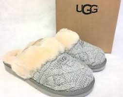ugg slippers sale ebay ugg australia cozy cable knit slippers 1019666 seal grey cable