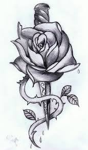 skull and dagger tattoo meaning skull dagger n roses tattoo image