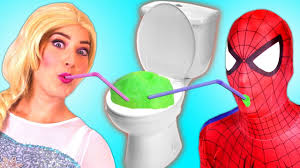 spiderman frozen elsa u0026 anna and pink spidergirl vs ghost funny