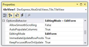 xtragrid layout view tile editing data grid winforms controls devexpress help