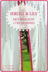 a thrifter in disguise serena u0026 lily knockoff kids curtain panels