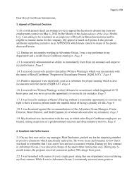 Letter Of Intent To Terminate Contract appeal of dismissal from royal caribbean by zachariah wiedeman issuu