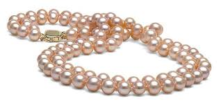 pink pearls necklace images Pink freshwater double strand pearl necklace 7 5 8 0mm jpg&a