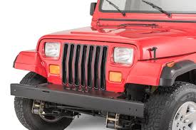 jeep bumper grill rugged ridge plastic grill inserts for 87 95 jeep wrangler yj