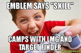 Meme Finder - emblem says skill cs with lmg and target finder make a meme