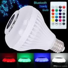 bluetooth music light bulb led bulbs e27 smart music bulb rgb wireless bluetooth audio speaker