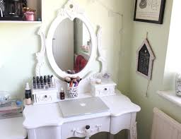 bedroom furniture with white wooden dressing table and two