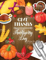 thanksgiving day greeting card background with autumn and
