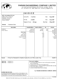Blank Service Invoice Template by Tally Erp 9 Invoice Customization Format