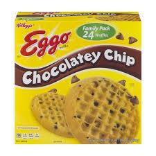 Eggo Toaster Waffles Kellogg U0027s Eggo Waffles Chocolatey Chip 24 Ct Walmart Com