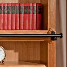 Bookcase Ladder Hardware Rockler Exclusive Satin Black Vintage Rolling Library Hardware