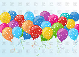free balloons background with colorful balloons royalty free vector clip