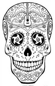 detailed sugar skull coloring abstract coloring pages