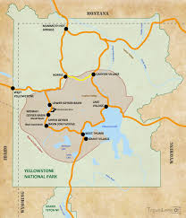 Grand Teton Map Tag 16 Auf Zum Yellowstone National Park Travellens At