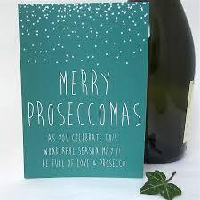 prosecco friend christmas card u0027proseccomas u0027 prosecco christmas