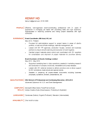 Sample Resume Objectives For Trades by Event Coordinator Sample Resume Objective Contegri Com