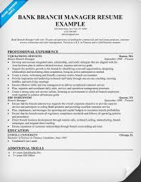Sample Template For Resume Bank Branch Manager Resume Resume Samples Across All Industries