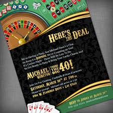 outstanding casino theme party invitation concerning unusual