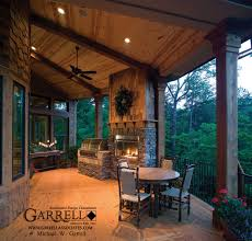 covered porch cabin plans awesome garden style of covered porch