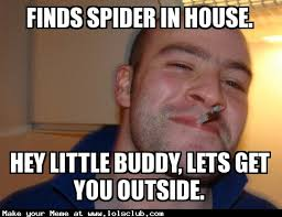 Hey Buddy Meme - lol s club 盪 laugh out loud s club 盪 finds spider in house hey