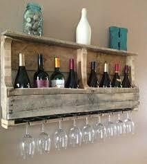 large salvaged wood wine rack with shelf home kitchen u0026 pantry