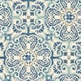 moroccan style mosaic wallpaper in blue blue copper u0026 gray