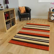 Modern Orange Rugs by New Hand Carved Terracotta Striped Runner Rug Small Large Living