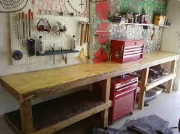 garage workbench plans home design by larizza