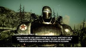 Liberty Prime Meme - elr co really hope we see liberty prime in fal wi hether it bein his
