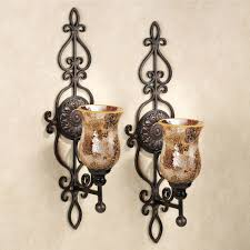 Chandelier Wall Sconce Chandelier Candle Wall Sconce And Leyanna Mosaic Aged Brown Pair