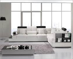 Contemporary White Leather Sectional Sofa by White Leather Sectional Sofa Set 44lt117