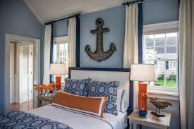 bedrooms guest bedroom metal anchor over headboard guest bedroom