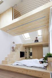 ruetemple adds playhouse within a bedroom in moscow summer house