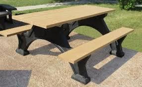 picnic tables that help solve a plastic problem